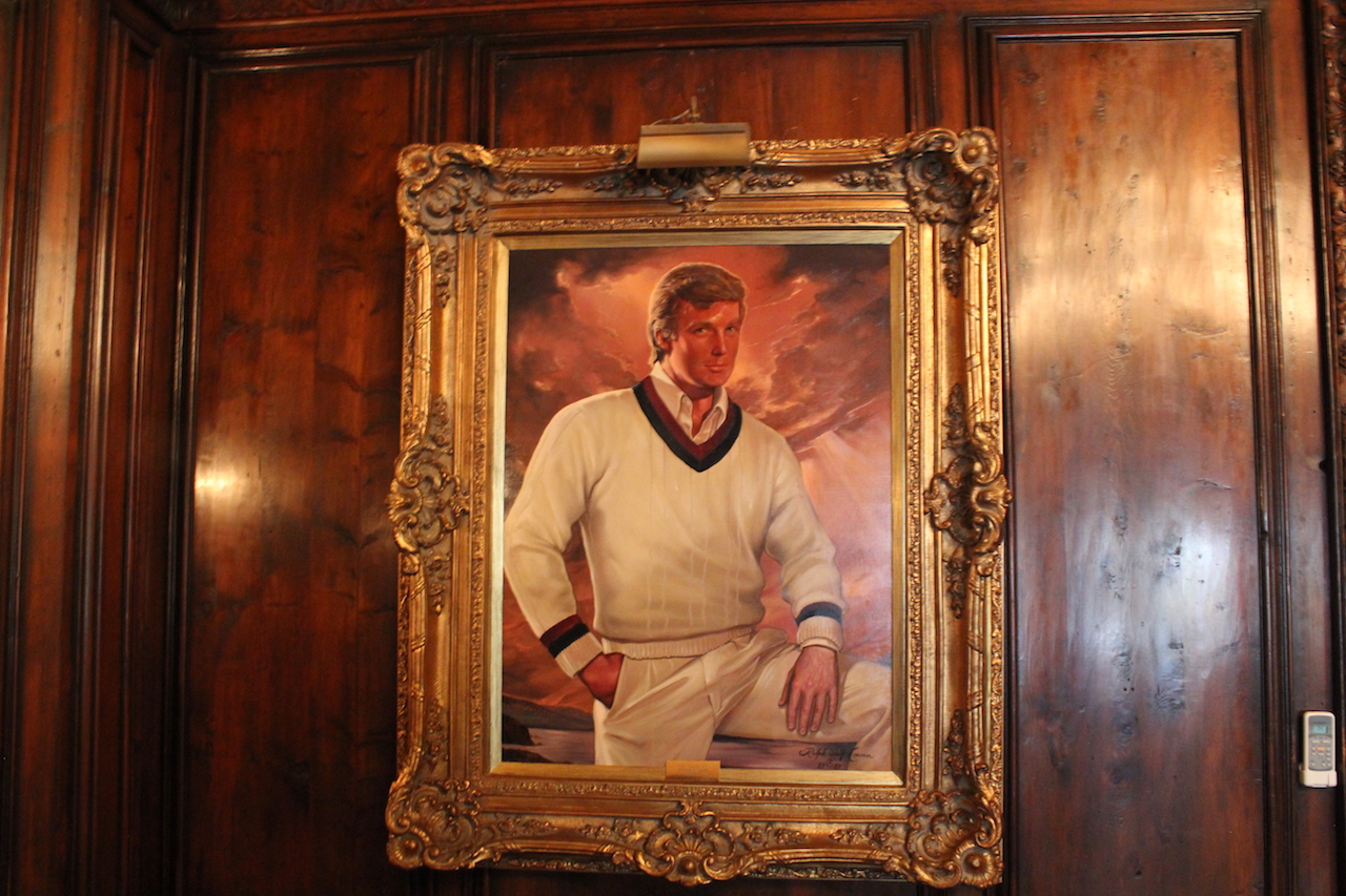 charity money donald trump painting